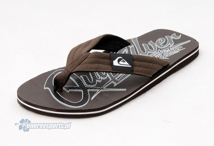 Klapki Quiksilver Layback Brown Black Grey