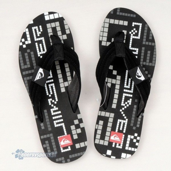 Klapki Quiksilver Quilted Pixelator Black Grey White